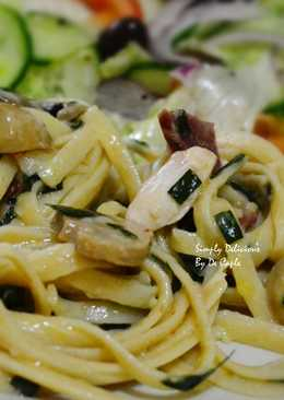 Pasta with Chicken and Mushroom Cream Sauce
