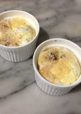 Baked Eggs with Spinach and Parmesan