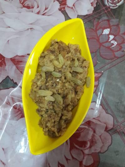 Coconut bread halwa