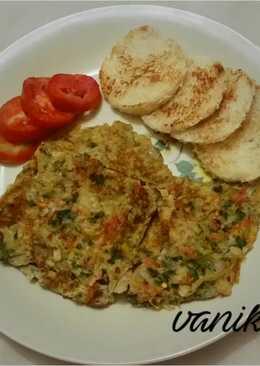 Vegetables masala omelette
