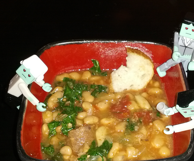 Parsley, Kale, and Sausage Cassoulet