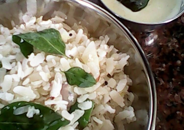 Thalicha Avul.....Coconut Chutney (Sauteed Beaten Rice)