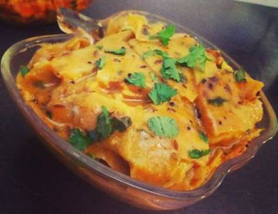 Papad ki sabji or papad curry
