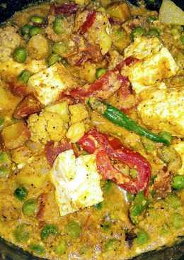Pure veg paneer mix veg curry