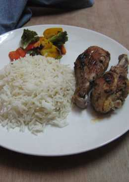 Grilled Chicken with rice and assorted veggies