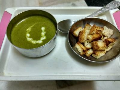 Palak (spinach) soup