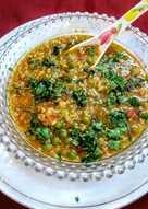 Millet lentil soup