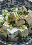 Spring Onion & Tofu Garlic Salad