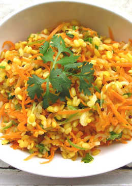 Moong Dal Salad (peeled split yellow moong beans)