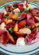 Nectarine, Prosciutto and Mozerella Salad