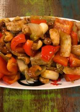 Quick Chicken and cashew nut stir fry
