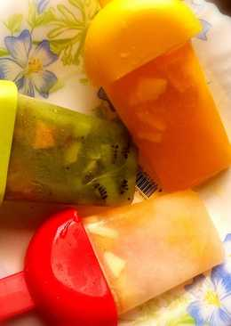 Fruits popsicles