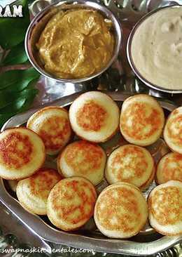 Paniyaram/Guntaponganalu (Using leftover idly/dosa batter)