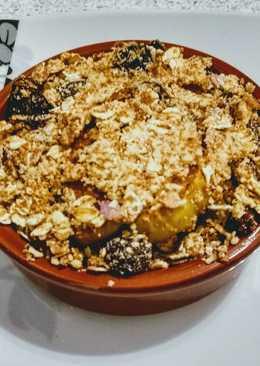 Individual Baked Apple, Honey & Cinnamon Crumble