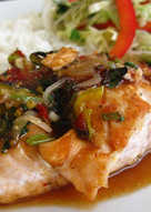 resep masakan easy sweet spicy thai inspired maple glazed salmon