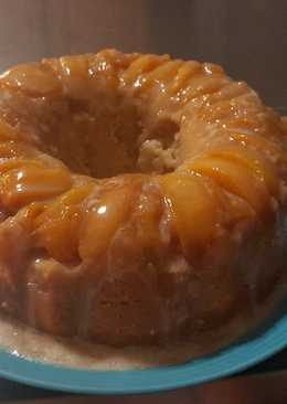 Peach Upside-Down Bundt Cake