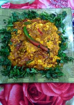Paneer capsicum bhurji