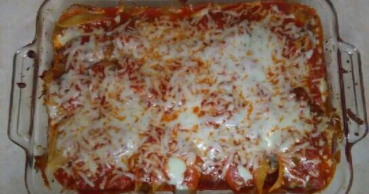 Stuffed Pasta Shells Recipe By Angelica Cookpad