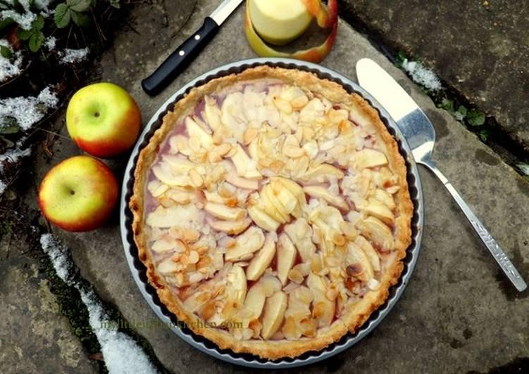 Apple and almonds tart