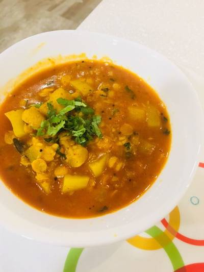 Lauki Chana Dal Curry