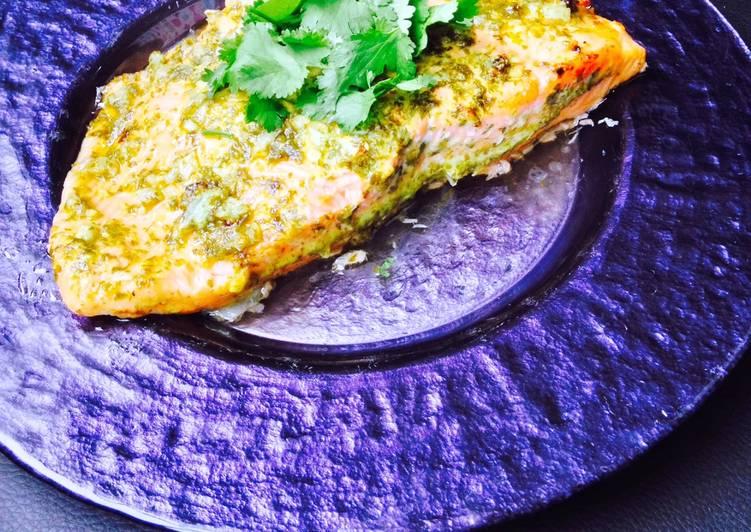 Cilantro Lime Baked Salmon