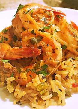 Cajun shrimp and rice scampi