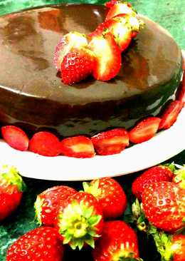 Eggless Mirror shine Chocolate cake