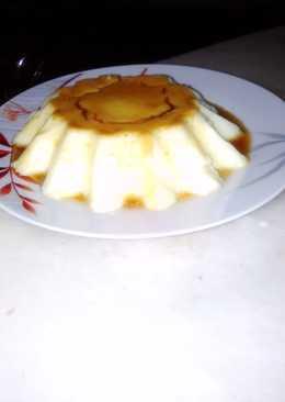 Mango caramel pudding