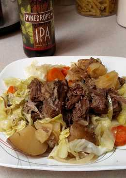Slow Cooker Corned Beef & Cabbage