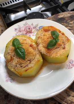 Vegetarian stuffed marrow