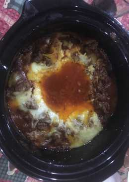 3 Cheese Crockpot Lasanga with Cream Mushroom Bechamel Sauce