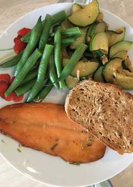 Smoked Trout with a Butter Garlic Rosemary Marinade