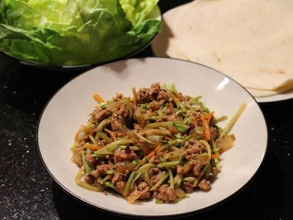 Thai Pork Lettuce Wraps or Burritos