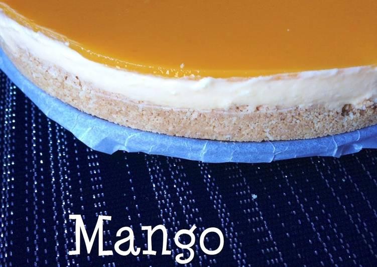 how to make eggless mango cheesecake