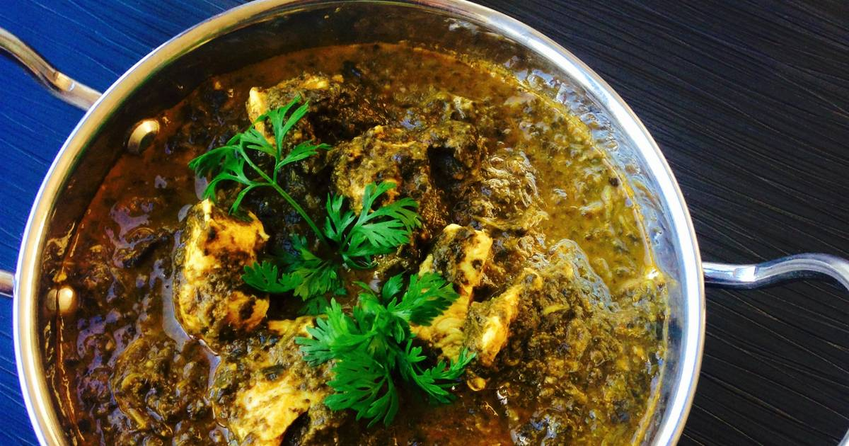 Slow cooker chicken saag recipe by beula pandian thomas cookpad forumfinder Images