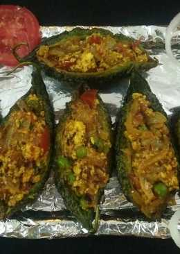 Cottage Cheese Stuffed Bitter Gourd (Side dish)