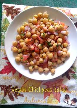 Easy chickpeas salad – healthy, vegan and a filling treat!