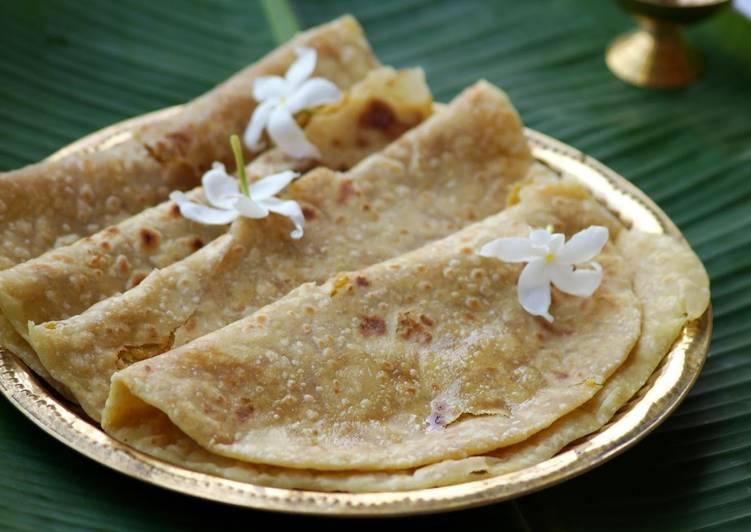 Puran Poli - Stuffed Sweet Indian Bread