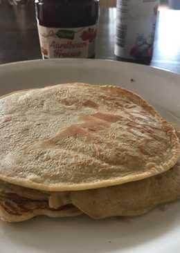 Banana flavoured pancakes