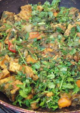 Quick Tofu Carrot Spinach S abzi