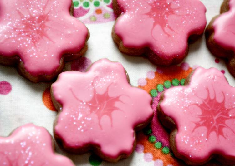 Cherry Blossom Sugar Cookies for Spring (cherry flavored)