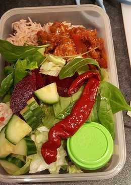 Left-over Salad Lunch