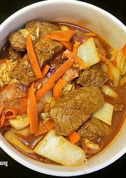 Beef Version of Spicy Stew (Dak Galbi Spinoff)