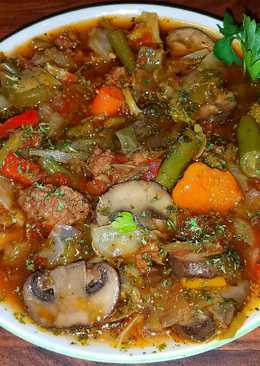 Mike's Low Carb/Calorie Vegetable Beef Soup