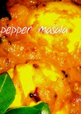 Egg pepper masala