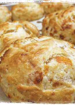 Three Cheese Buttermilk Biscuits