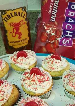 Fireball whiskey cupcakes
