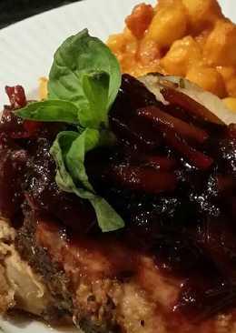 Brad's herbed pork loin w/ bell pepper marmalade