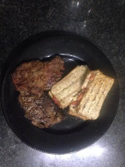Braaied Lamb & Pork Chops with braaibroodjie