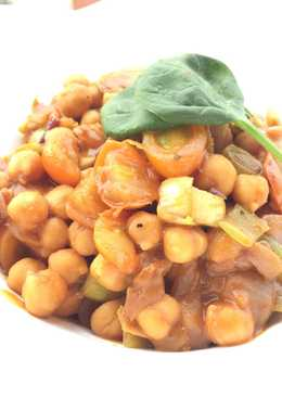 Curry Chickpea With Leeks (Vegan)